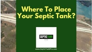 Guide Banner on where place your septic system or tank