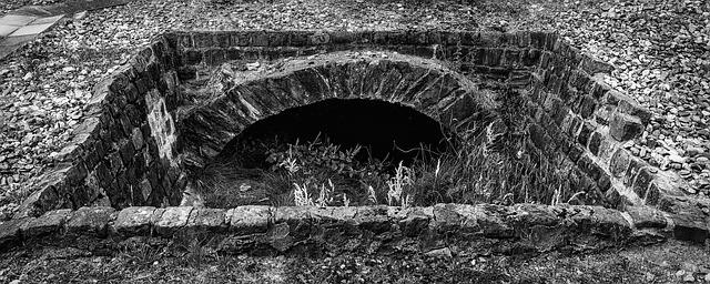 deep septic tank hole image